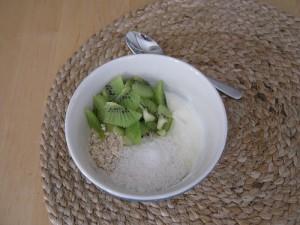 Frühstück Snacks - Kiwi-Kokos-Energie-Müsli